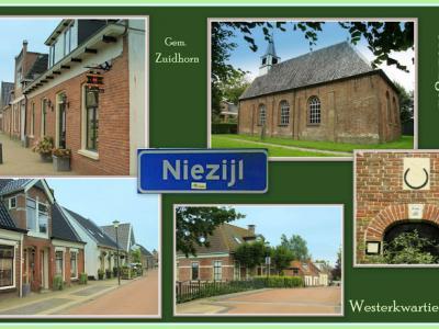 Niezijl, collage van dorpsgezichten (© Jan Dijkstra, Houten)