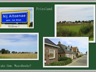 Nij Altoenae, collage van dorpsgezichten (© Jan Dijkstra, Houten)