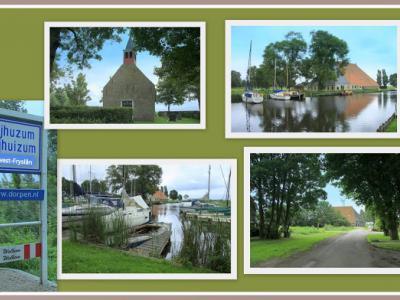 Nijhuizum, collage van dorpsgezichten (© Jan Dijkstra, Houten)