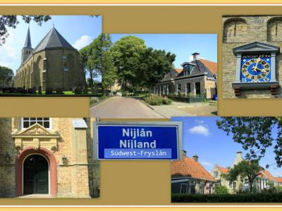 Nijland, collage van dorpsgezichten (© Jan Dijkstra, Houten)