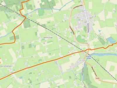 Gezien naamgeving en ligging is Noord-Empe kennelijk en buurtschap van het dorp Empe, dat oorspronkelijk Zuid-Empe heette. Curieus in dat kader is dat Noord-Empe formeel onder dorp en gemeente Voorst valt, terwijl Empe onder de gemeente Brummen valt.