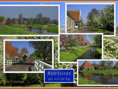 Noordeinde, collage van dorpsgezichten (© Jan Dijkstra, Houten)