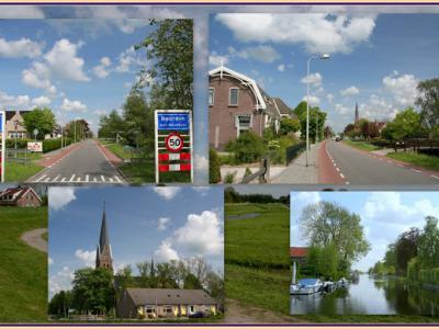 Noorden, collage van dorpsgezichten (© Jan Dijkstra, Houten)
