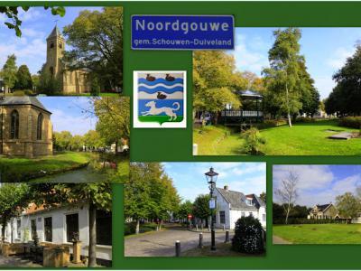 Noordgouwe, collage van dorpsgezichten (© Jan Dijkstra, Houten)