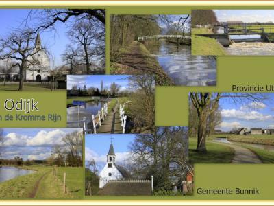 Odijk, collage van dorpsgezichten (© Jan Dijkstra, Houten)