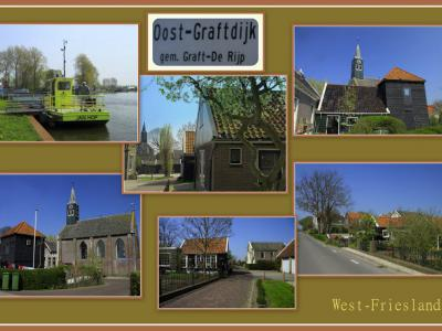 Oost-Graftdijk, collage van dorpsgezichten (© Jan Dijkstra, Houten)