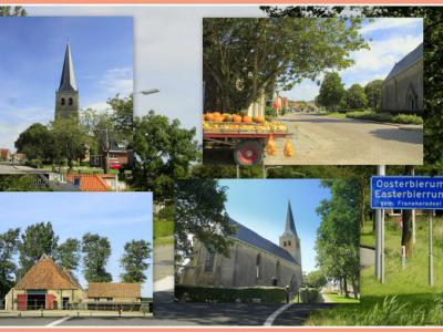 Oosterbierum, collage van dorpsgezichten (© Jan Dijkstra, Houten)