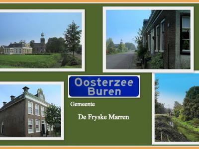 Oosterzee, collage van dorpsgezichten (© Jan Dijkstra, Houten)