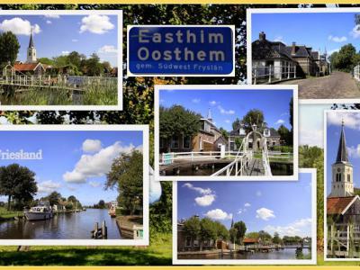 Oosthem, collage van dorpsgezichten (© Jan Dijkstra, Houten)