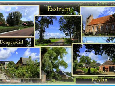 Oostrum, collage van dorpsgezichten (© Jan Dijkstra, Houten)