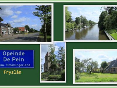 Opeinde, collage van dorpsgezichten (© Jan Dijkstra, Houten)