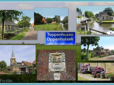 Oppenhuizen, collage van dorpsgezichten (© Jan Dijkstra, Houten)