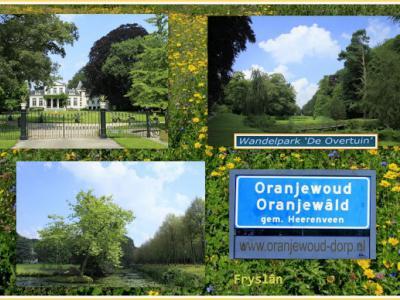 Oranjewoud, collage van dorpsgezichten (© Jan Dijkstra, Houten)