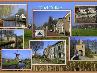 Oud-Zuilen, collage van dorpsgezichten (© Jan Dijkstra, Houten)