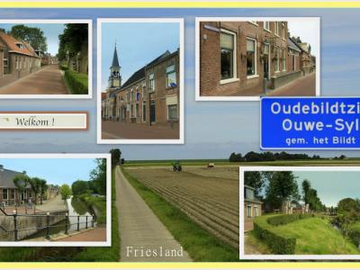Oudebildtzijl, collage van dorpsgezichten (© Jan Dijkstra, Houten)