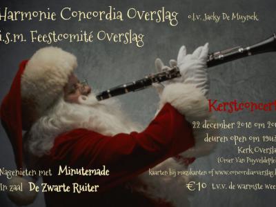 Op de zaterdag voor Kerst geeft Harmonie Concordia jaarlijks een concert in de kerk van Overslag