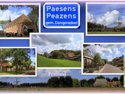 Paesens, collage van dorpsgezichten (© Jan Dijkstra, Houten)
