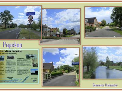 Papekop, collage van dorpsgezichten (© Jan Dijkstra, Houten)