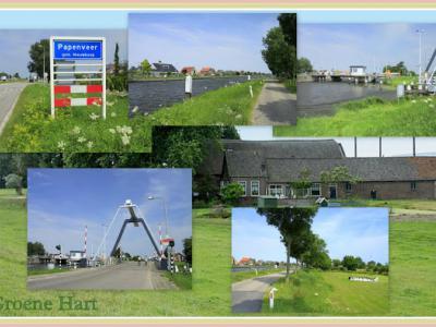Papenveer, collage van dorpsgezichten (© Jan Dijkstra, Houten)