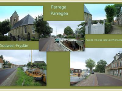 Parrega, collage van dorpsgezichten (© Jan Dijkstra, Houten)