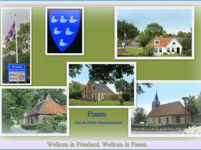 Piaam, collage van dorpsgezichten (© Jan Dijkstra, Houten)