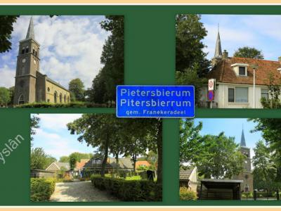 Pietersbierum, collage van dorpsgezichten (© Jan Dijkstra, Houten)