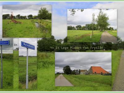 Poppenhúzen en Warniahúzen zijn twee kleine buur-buurtschappen onder Aldeboarn. Het is geografisch eigenlijk één gebied. Het is er vooral 'leeg', d.w.z.: heel veel weidse weilanden, met per buurtschap een handvol boerderijen. (© Jan Dijkstra, Houten)