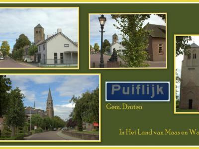 Puiflijk, collage van dorpsgezichten (© Jan Dijkstra, Houten)