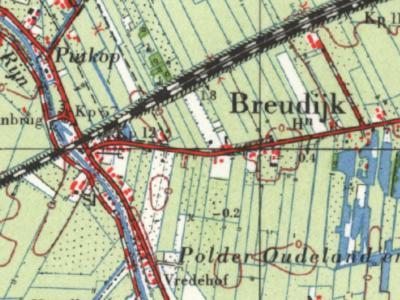 De gemeente Kamerik had t/m 31-3-1964 een enclavetje O van de Oude Rijn, direct Z van de spoorlijn. Het betrof een deel van buurtschap Putkop, die voor het overige onder Harmelen viel en tegenwoordig in zijn geheel valt. Zie de stippellijnen.