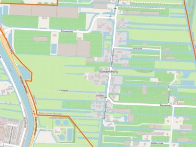 Buurtschap Randenburg ligt rond de Randenburgseweg, NW van Reeuwijk-Dorp, NO van Waddinxveen, ZO van Boskoop. (© www.openstreetmap.org)
