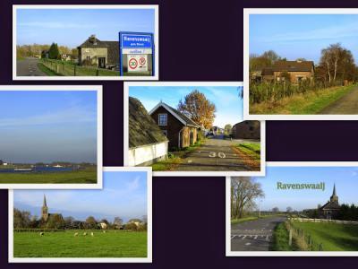 Ravenswaaij, collage van dorpsgezichten (© Jan Dijkstra, Houten)