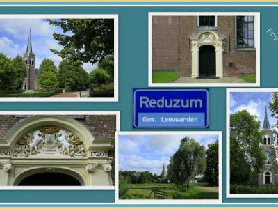 Reduzum, collage van dorpsgezichten (© Jan Dijkstra, Houten)