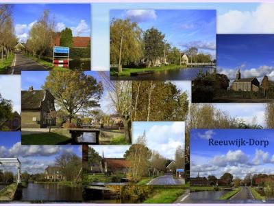Reeuwijk-Dorp, collage van dorpsgezichten (© Jan Dijkstra, Houten)