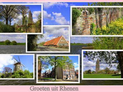 Rhenen, collage van stadsgezichten (© Jan Dijkstra, Houten)