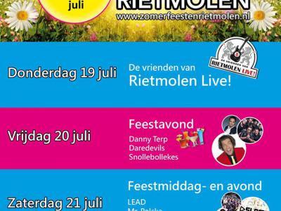 Het dorp Rietmolen bruist het hele jaar door. Naast carnaval en de Voorjaarsfeesten zijn er de Zomerfeesten in juli. En dan is in 2018 ook nog de werkgroep 'Cultuur in Rietmolen' gestart, die bijzondere evenementen in de prachtige dorpskerk organiseert.