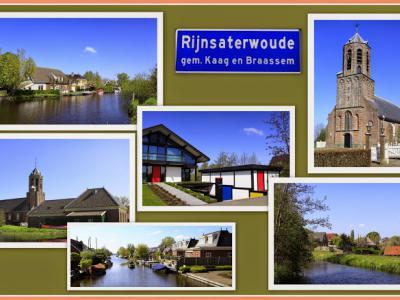 Rijnsaterwoude, collage van dorpsgezichten (© Jan Dijkstra, Houten)