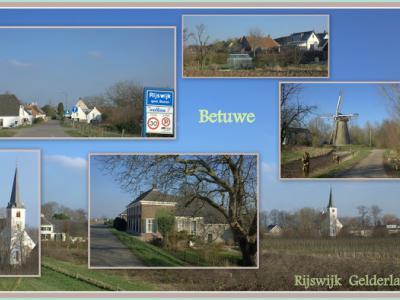 Rijswijk, collage van dorpsgezichten (© Jan Dijkstra, Houten)
