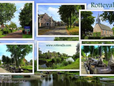 Rottevalle, collage van dorpsgezichten (© Jan Dijkstra, Houten)