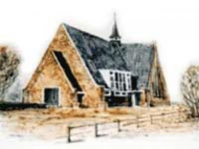 Rozenburg, de Nederlands Gereformeerde kerk, in 2006 afgebroken voor de uitbreiding van Schiphol
