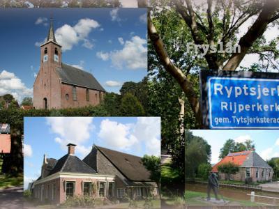 Ryptsjerk, collage van dorpsgezichten (© Jan Dijkstra, Houten)
