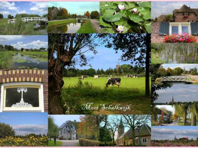 Schalkwijk, collage van dorpsgezichten (© Jan Dijkstra, Houten)