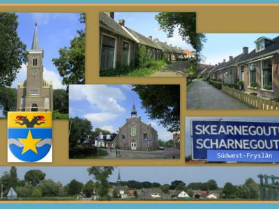 Scharnegoutum, collage van dorpsgezichten (© Jan Dijkstra, Houten)