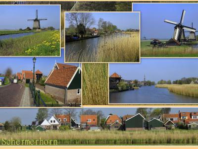 Schermerhorn is een dorp in de provincie Noord-Holland, in de streek Kennemerland, gemeente Alkmaar. Het was een zelfstandige gemeente t/m 31-7-1970. Per 1-8-1970 over naar gemeente Schermer, in 2015 over naar gemeente Alkmaar. (© Jan Dijkstra, Houten)