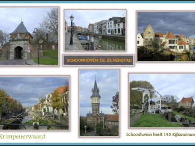 Schoonhoven, collage stadsgezichten (© Jan Dijkstra, Houten)