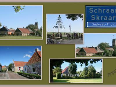 Schraard, collage van dorpsgezichten (© Jan Dijkstra, Houten)