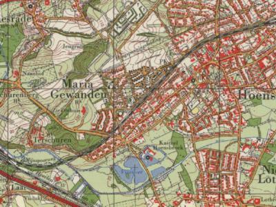 Kaart uit ca. 1970 met o.a. de buurtschappen Schurenberg en Terschuren. (© Kadaster)
