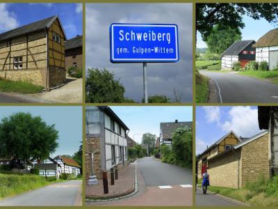 Schweiberg, collage van buurtschapsgezichten (© Jan Dijkstra, Houten)