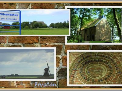 Sibrandahûs, collage van dorpsgezichten (© Jan Dijkstra, Houten)