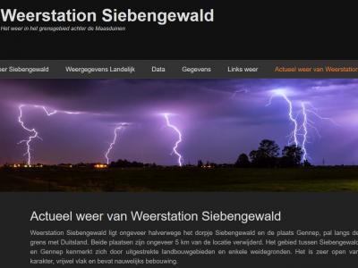 Het kleine dorp Siebengewald is van alle gemakken voorzien. Ze hebben er zelfs een eigen weerstation!