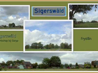 Sigerswâld, collage van buurtschapsgezichten (© Jan Dijkstra, Houten)
